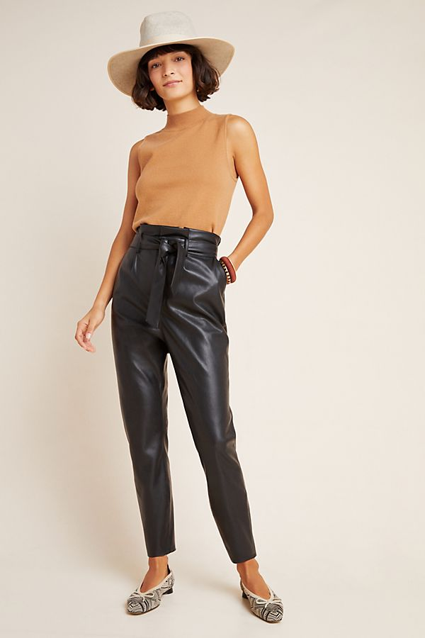 Slide View: 1: Annika Faux Leather Trousers