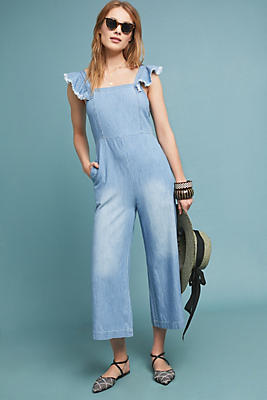 Slide View: 1: Minnie Chambray Jumpsuit