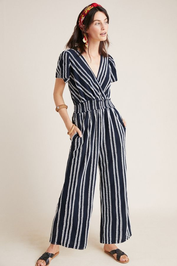 Slide View: 1: Canovas Striped Jumpsuit