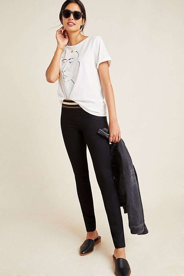 Slide View: 1: Scotch & Soda Varsity High-Rise Leggings