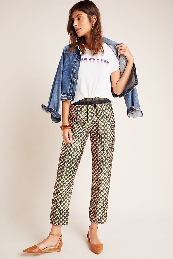 Slide View: 1: Scotch & Soda Abstract Cropped Trousers