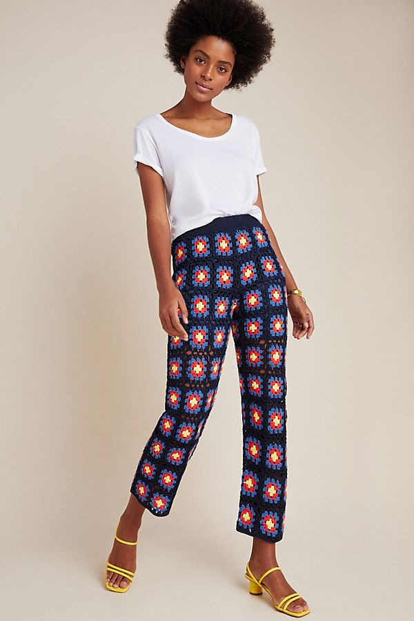 Slide View: 4: Scotch & Soda Crochet Wide-Leg Pants
