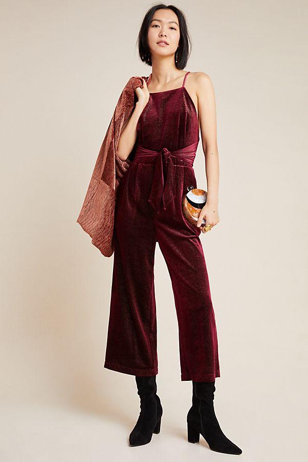 Slide View: 1: Rouge Velvet Jumpsuit