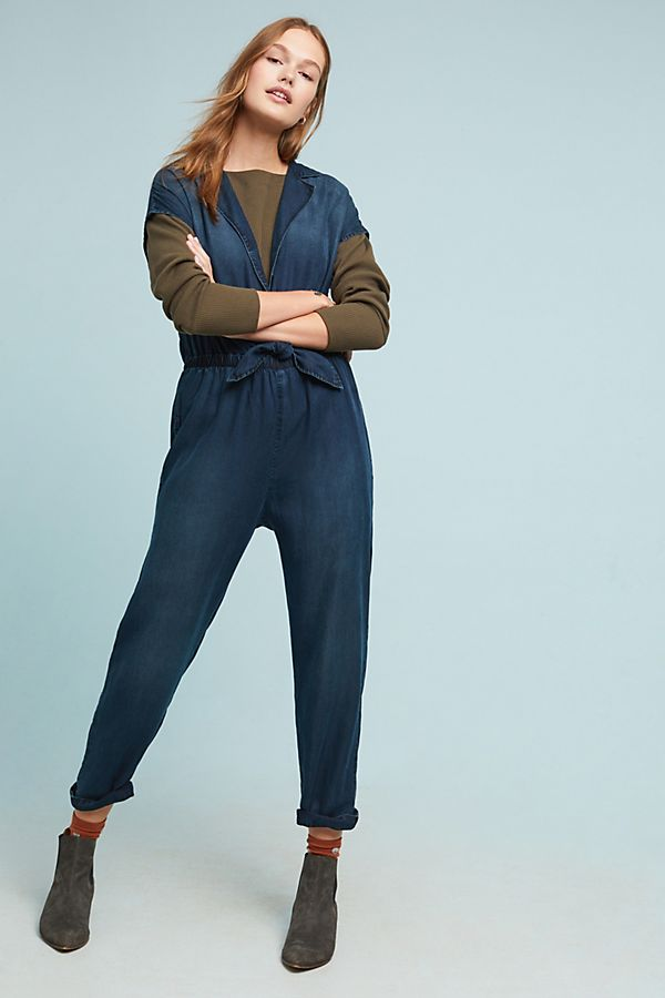 544e20e523ea Slide View  1  Cloth   Stone Belted Chambray Jumpsuit