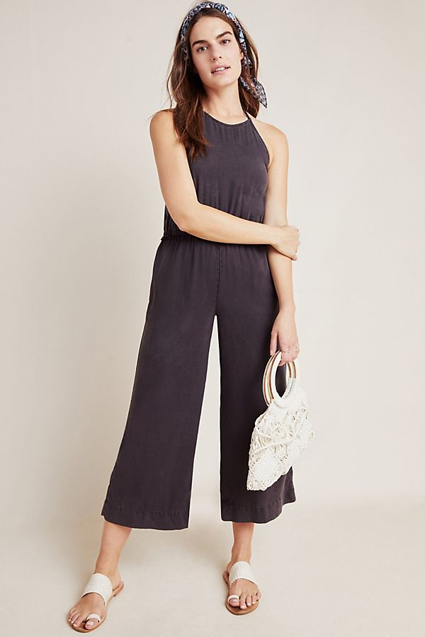 Slide View: 1: Cloth & Stone Halter Jumpsuit