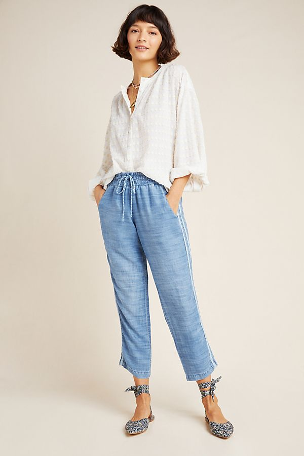 Slide View: 1: Cloth & Stone Striped Chambray Joggers