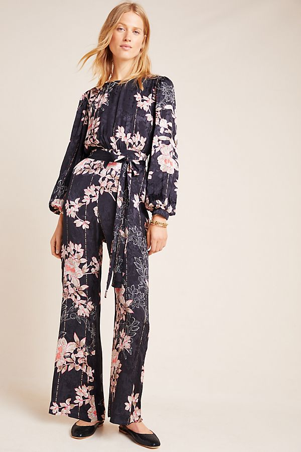 Slide View: 2: Audria Jacquard Jumpsuit