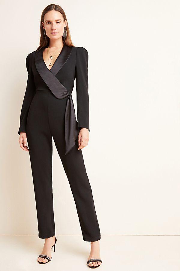 Slide View: 1: Tesorina Tuxedo Jumpsuit