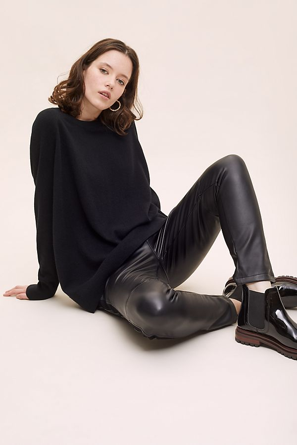 Slide View: 1: Rossy Faux Leather Trousers