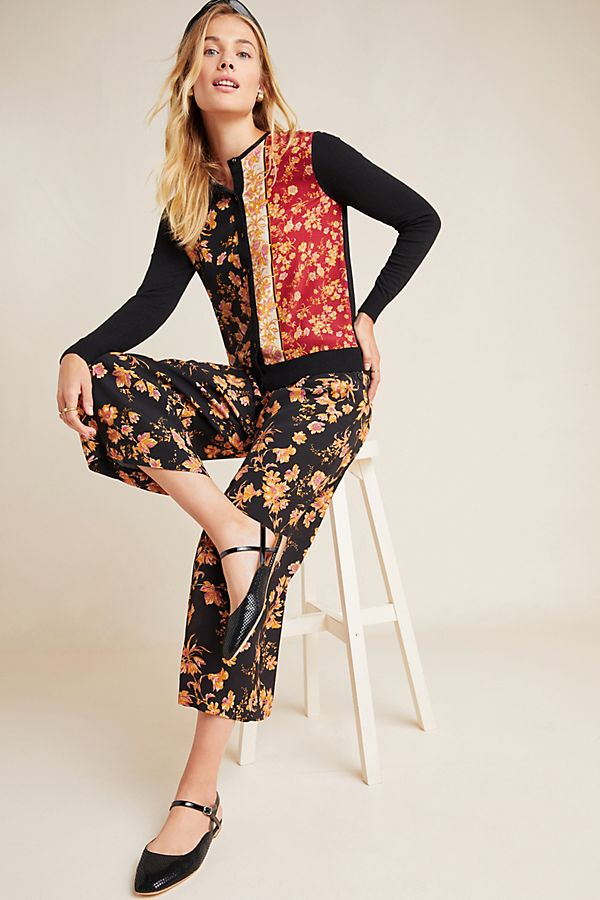 Slide View: 1: Della Floral Wide-Leg Trousers