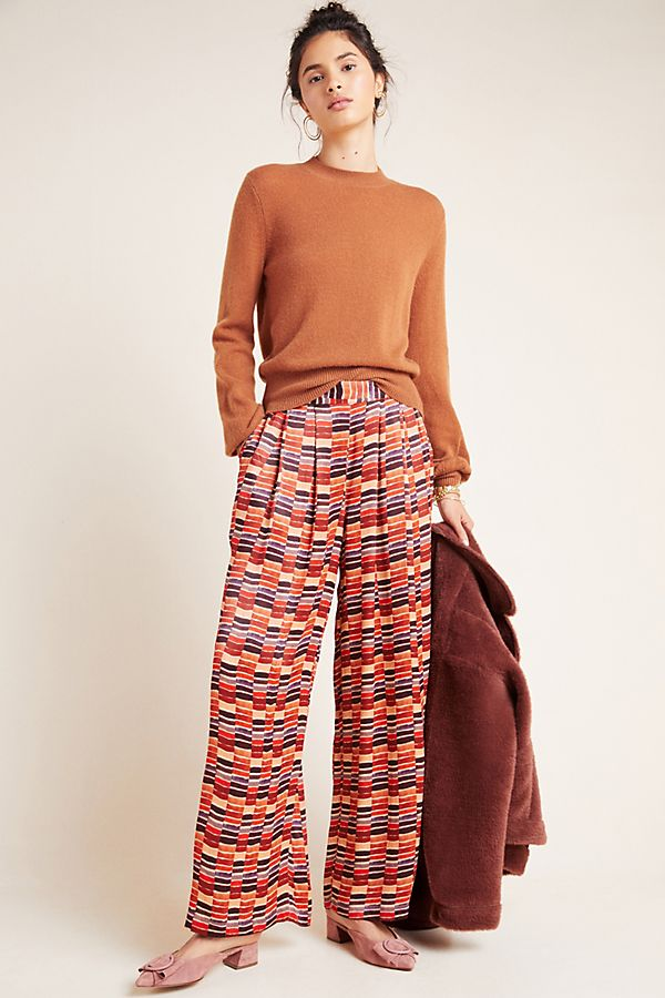 Slide View: 1: Nell High-Rise Wide-Leg Trousers