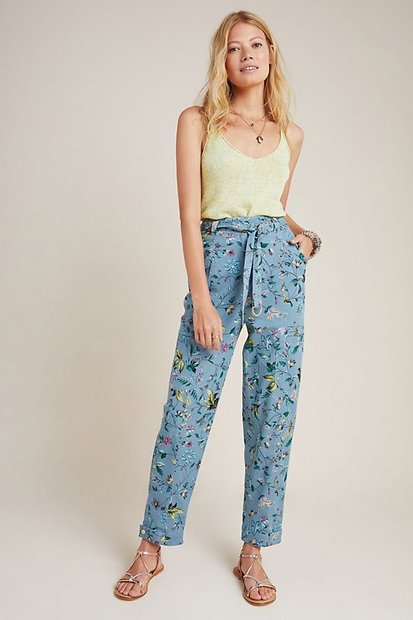 Slide View: 1: Victoria Floral Cargo Pants