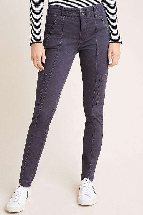différemment mieux choisir le dernier Pantalon slim taille haute style militaire Jefferson