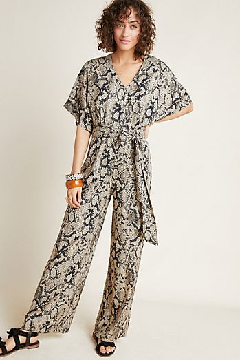 12b2c23ca5cd Snake-Printed Jumpsuit