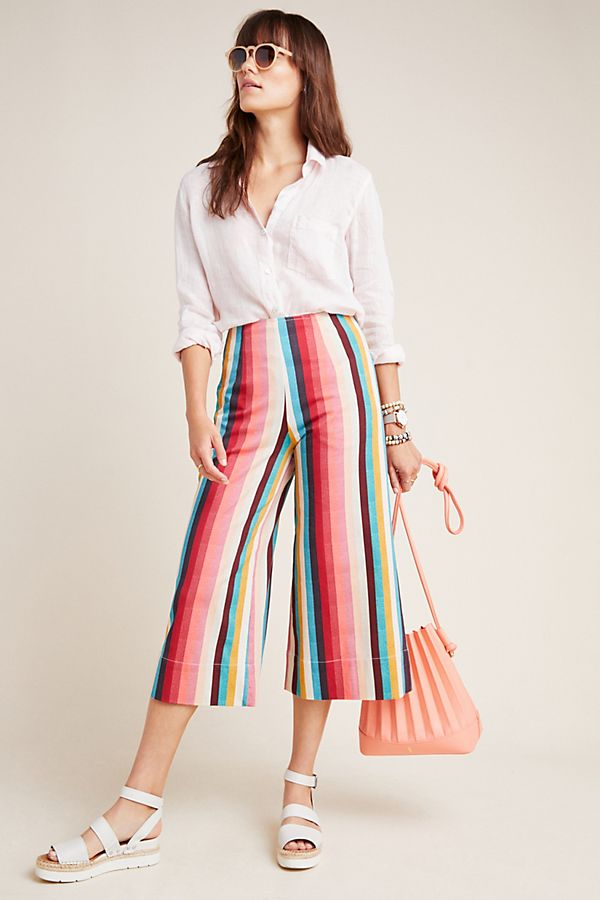 Slide View: 1: Mayfair Cropped Wide-Leg Trousers