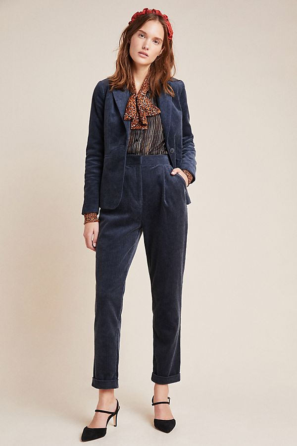 Slide View: 1: Foster Tapered Corduroy Pants