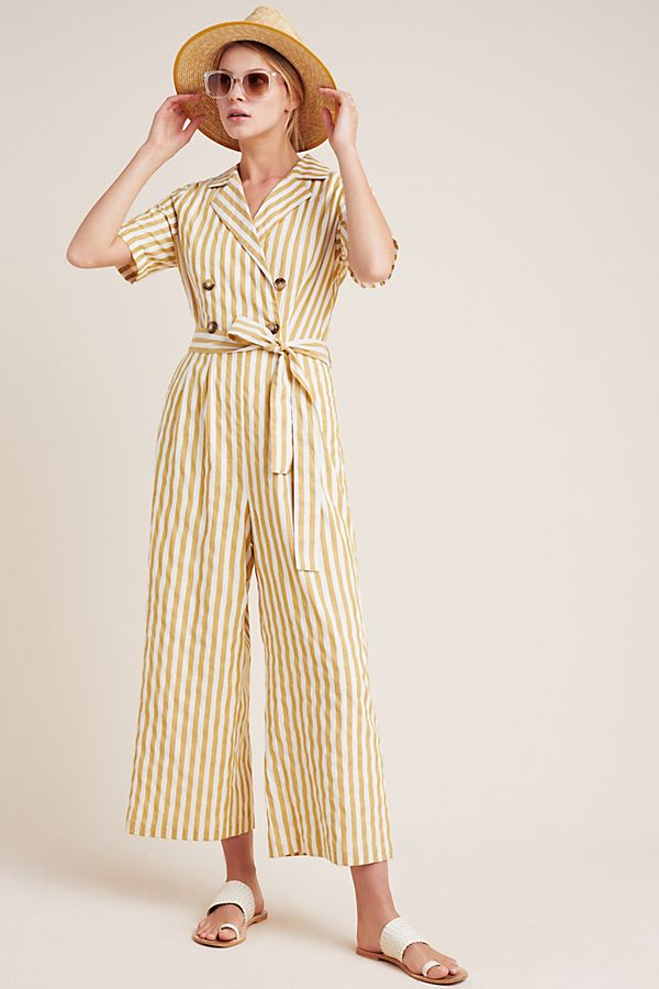 Slide View: 1: Double-Breasted Jumpsuit