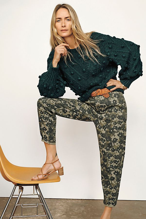 Slide View: 1: Floral Camo Trousers