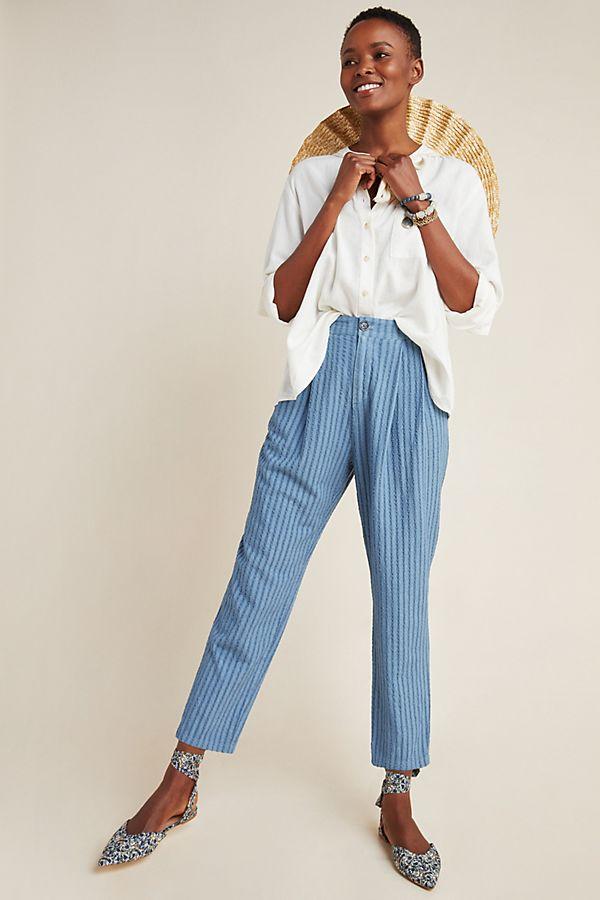 Slide View: 1: Victoria Textured Slim Pants