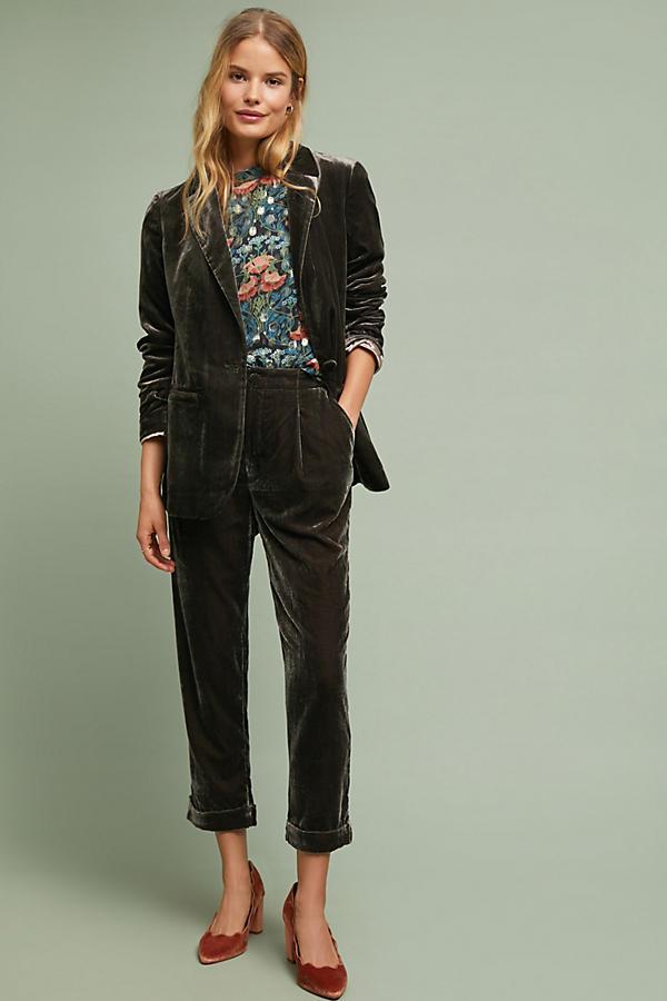 8c1430f05341 Cuffed Velvet Trousers | Anthropologie