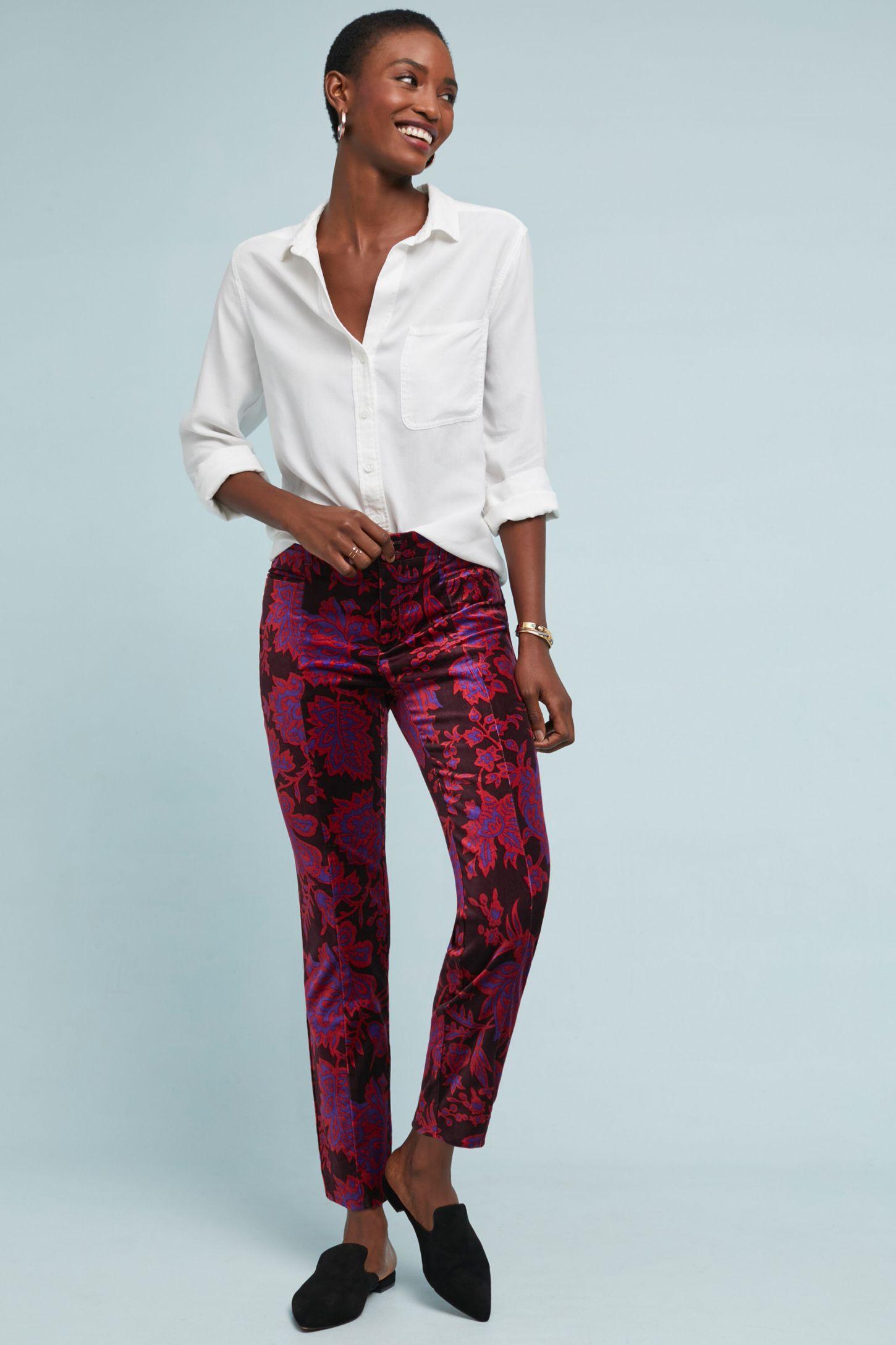 e350b12e1594 The Essential Velvet Slim Trousers | Anthropologie