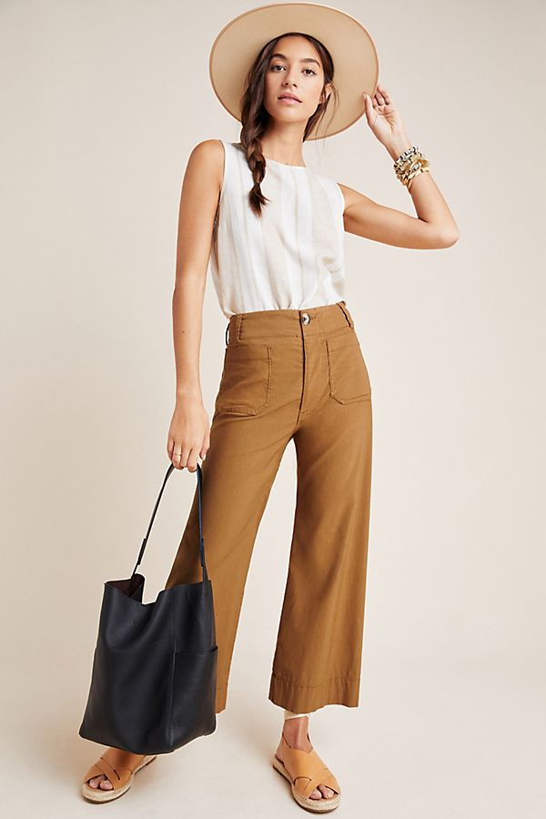 Slide View: 1: Wide-Leg Trousers