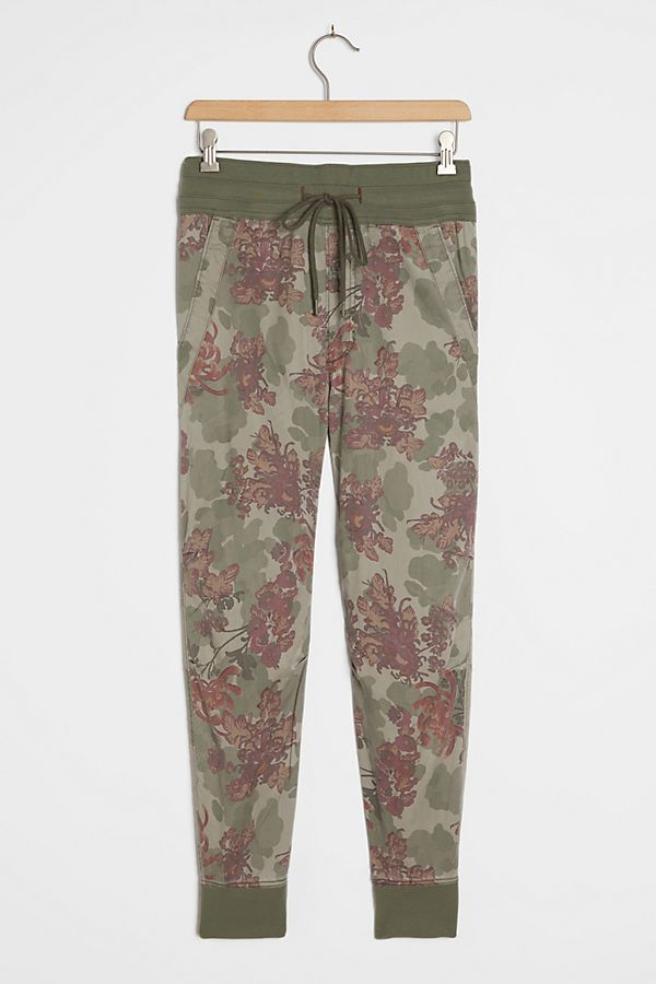 Slide View: 1: Mixed-Knit Joggers