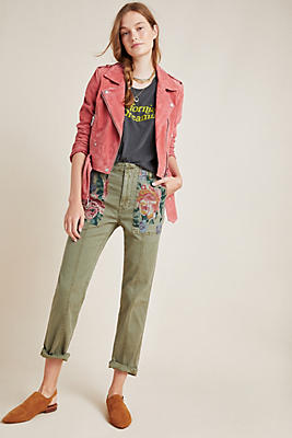 Relaxed Embroidered Trousers by Anthropologie