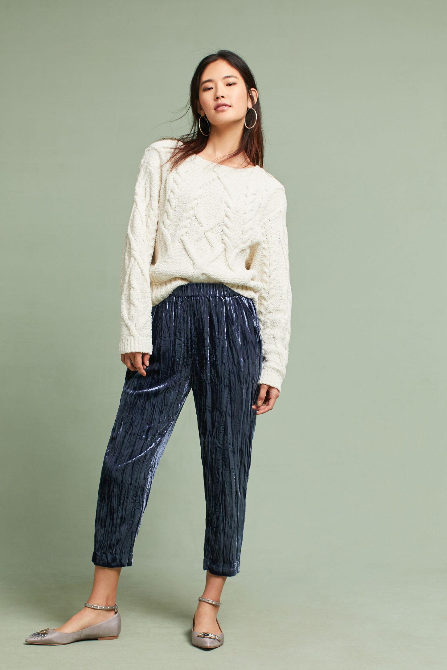dc26a3c1a87e Velvet Cropped Pants
