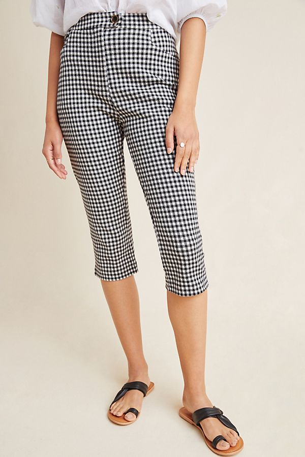 Gingham Pedal Pusher Pants by Anthropologie