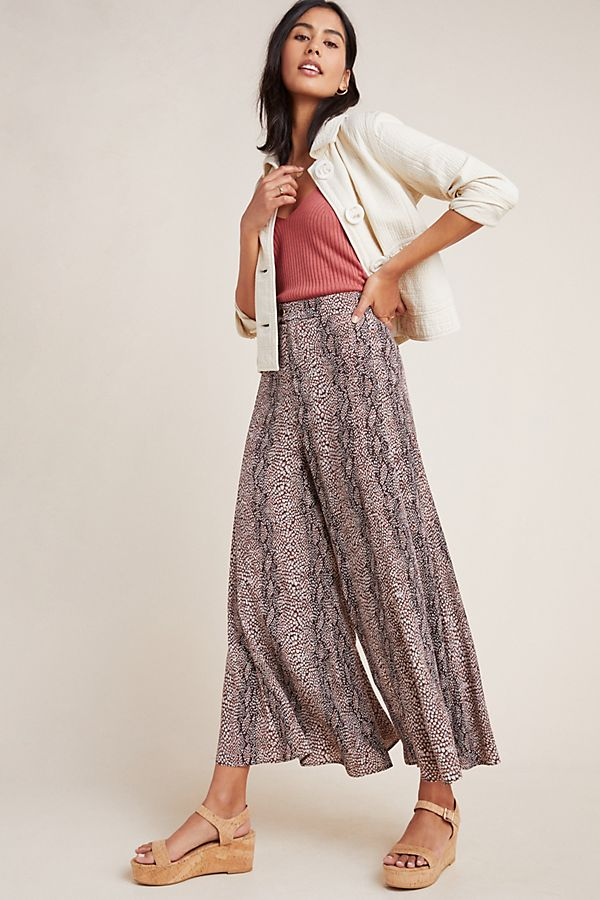 Slide View: 1: Skirted Wide-Leg Pants