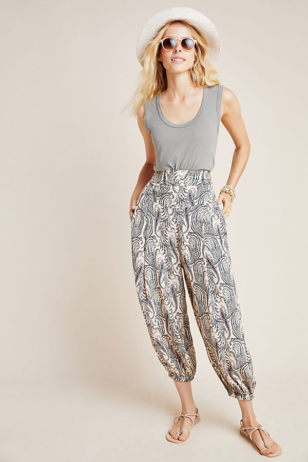 Slide View: 1: Printed Harem Pants