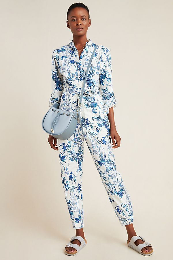 Slide View: 1: Lucienne Belted Jumpsuit
