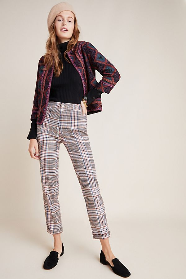 Slide View: 1: Malcolm Plaid Tapered Trousers