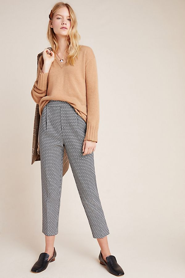 Slide View: 1: Larkin Jacquard Tapered Trousers