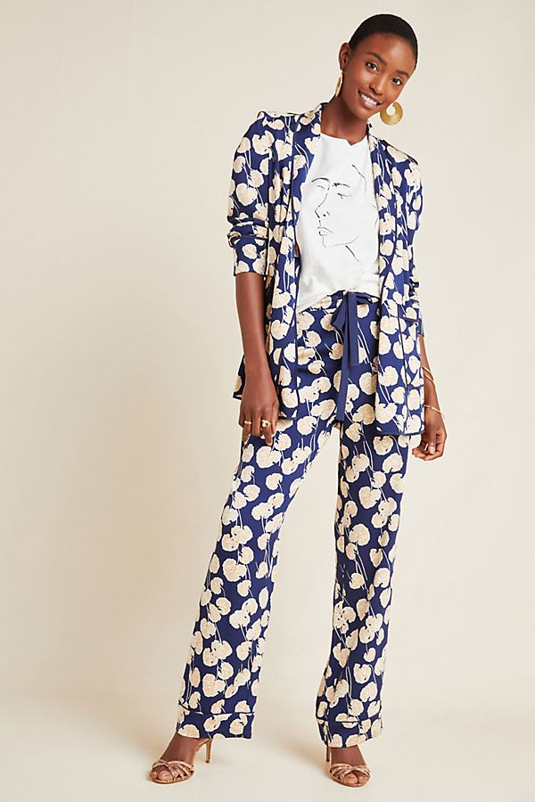Slide View: 1: Diane von Furstenberg Calista Wide-Leg Pants