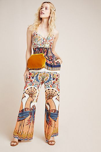 11e3bd303 Farm Rio for Anthropologie Zadar Halter Jumpsuit