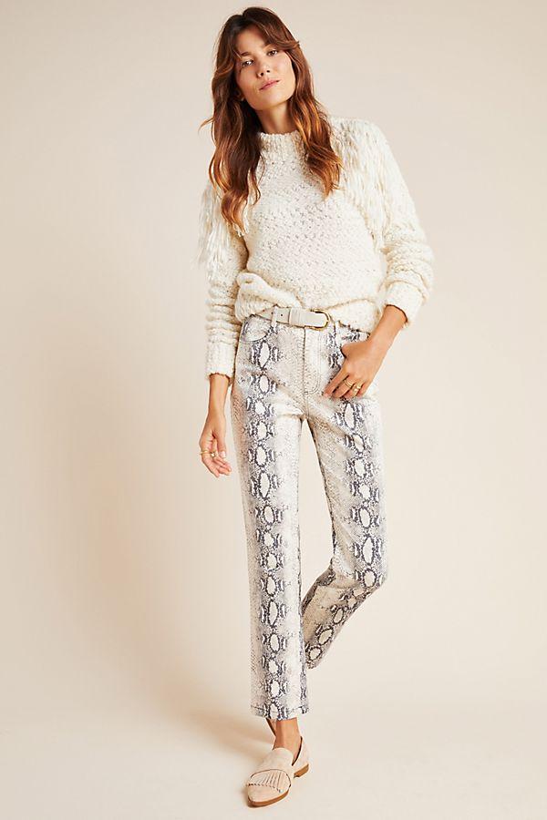 Slide View: 1: Lela Snake-Printed Pants