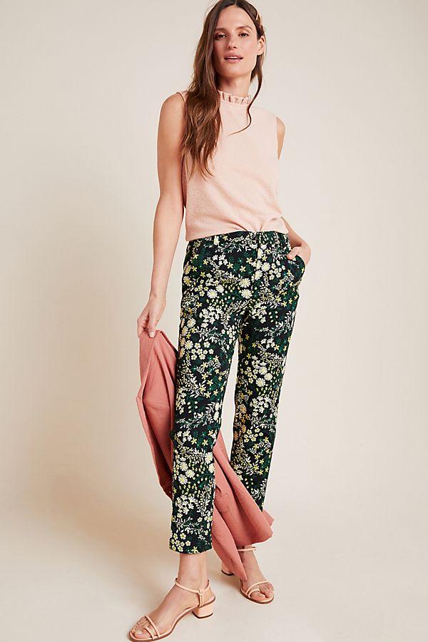 Slide View: 1: Posies Jacquard Trousers