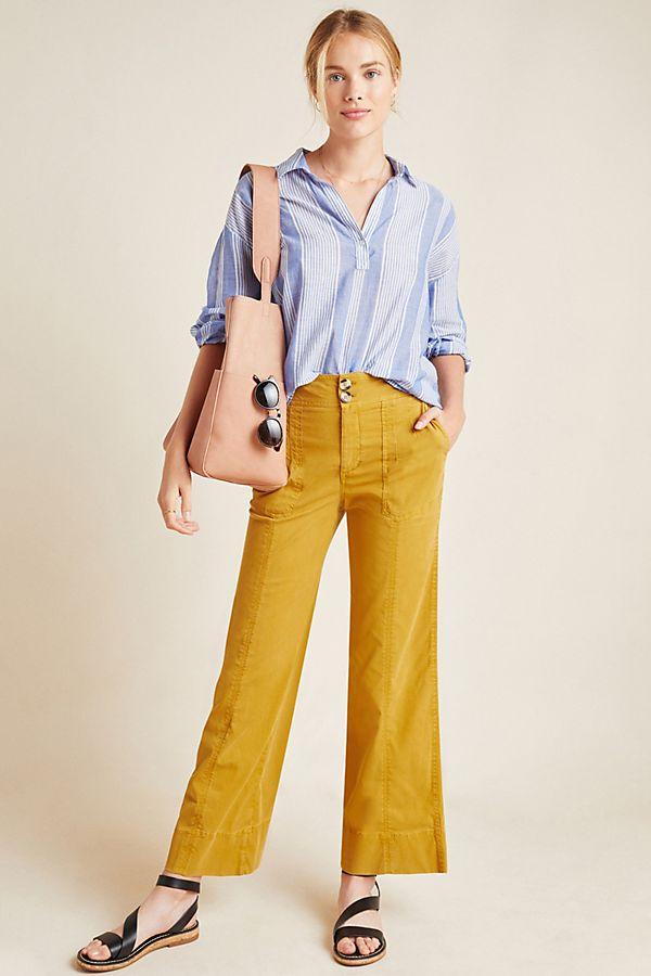 Slide View: 1: Franca Wide-Leg Carpenter Pants