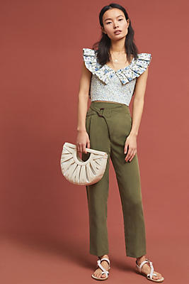 Cupro Wrap Trousers by Anthropologie