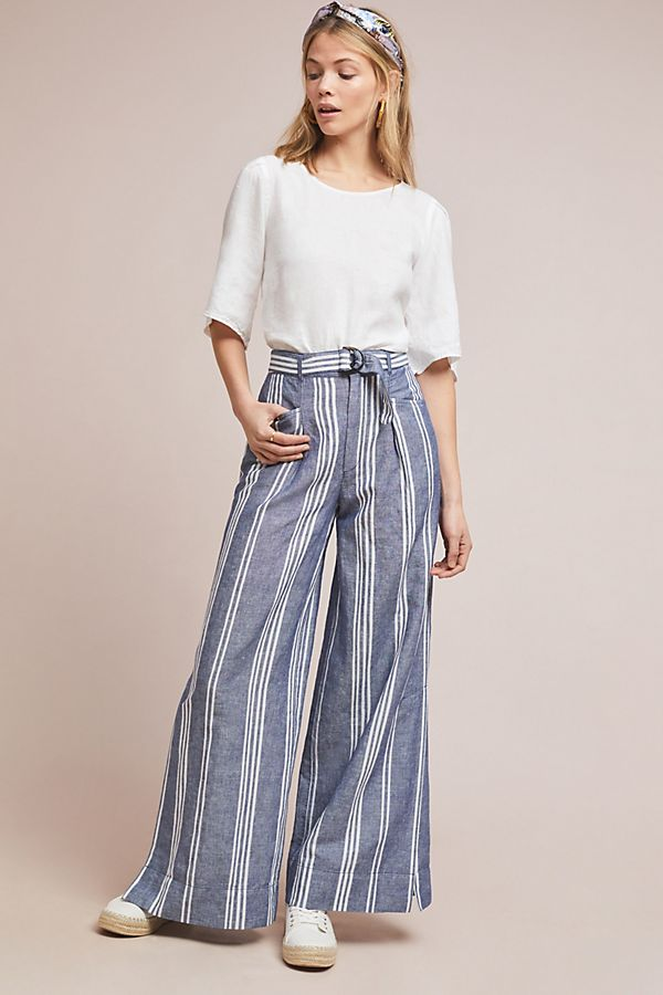 Slide View: 1: Beachy Wide-Leg Pants