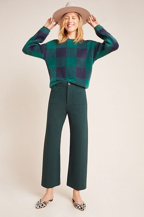 Slide View: 1: Courtney Cropped Wide-Leg Pants