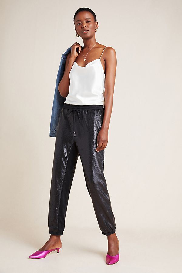 Slide View: 1: Maria Sequined Joggers