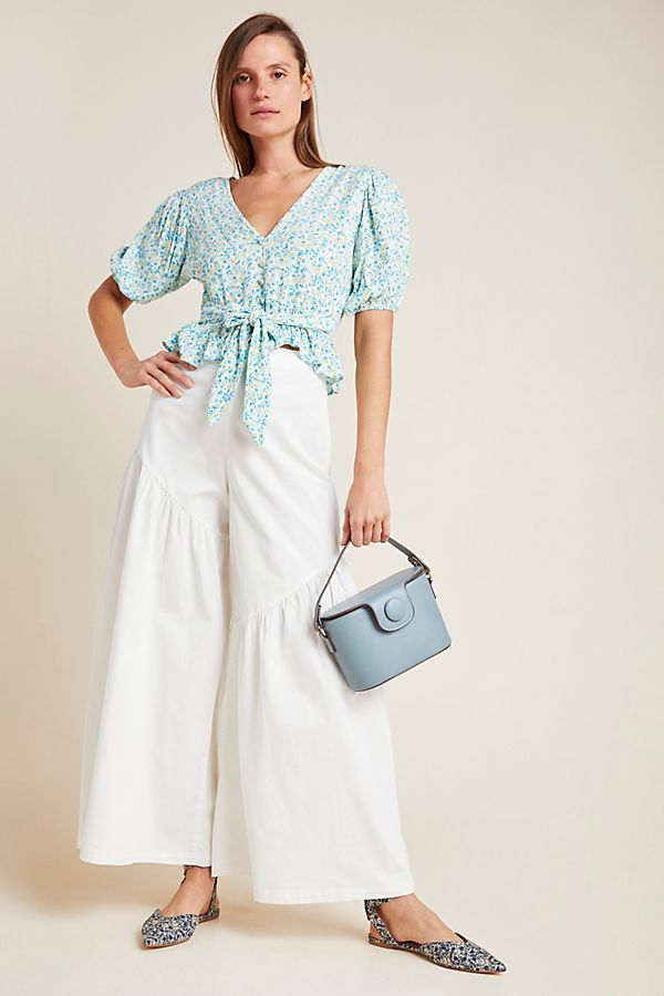 Slide View: 1: Corfu Wide-Leg Pants
