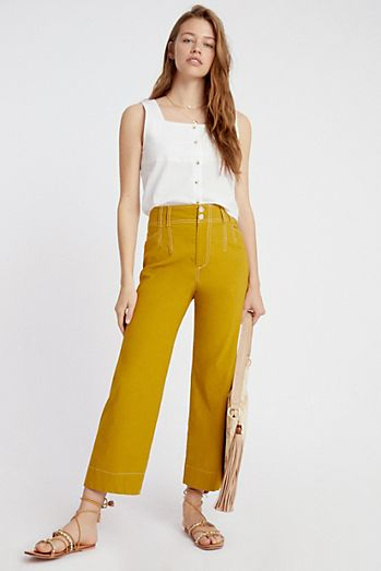 Emma Cropped Wide-Leg Pants