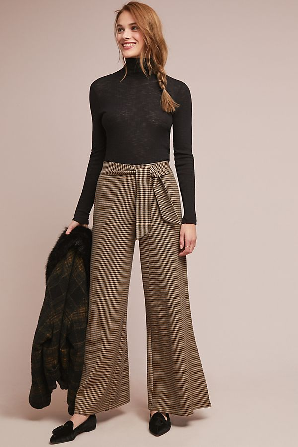 58bf1019f587 Houndstooth Wide-Leg Pants | Anthropologie