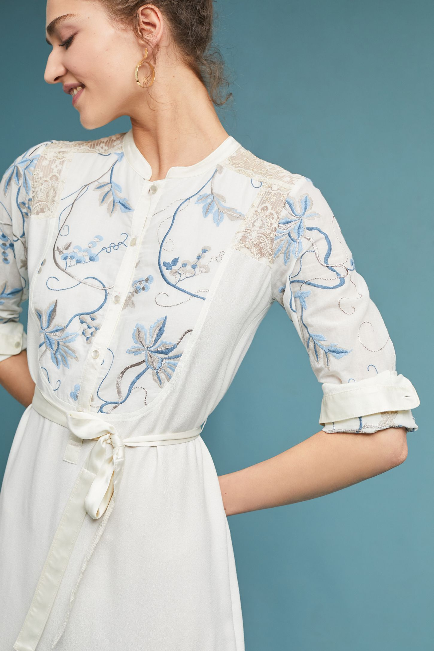 3eeeadf36c9c Amarante Embroidered Shirtdress | Anthropologie