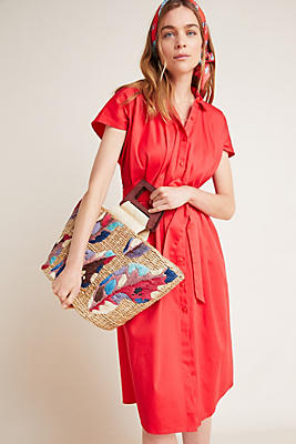 Slide View: 1: Corey Lynn Calter Carla Pleated Shirtdress