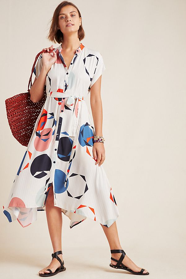 Slide View: 1: Corey Lynn Calter Geometric Shirtdress